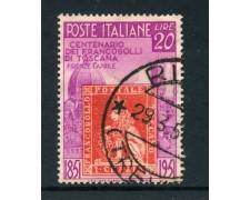 1951 - ITALIA REPUBBLICA - 20 LIRE TOSCANA - USATO - LOTTO/25264