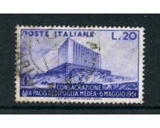 1951 - REPUBBLICA -  ARA PACIS - USATO - LOTTO25265