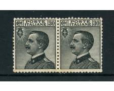 1925 - ITALIA REGNO - 30 c. GRIGIO EFFIGE - COPPIA NUOVI - LOTTO/25324