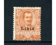 1912/1915 - LIBIA - 20 cent. ARANCIO - LINGUELLATO - LOTTO/25332