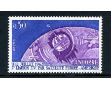 1962 - ANDORRA FRANCESE - SATELLITE TELSTAR - NUOVO - LOTTO/25345