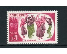 1963 - ANDORRA FRANCESE - AVVENIMENTI SARDANA - NUOVO - LOTTO/25346