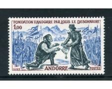 1963 - ANDORRA FRANCESE - AVVENIMENTI LUIGI IL BUONO - NUOVO - LOTTO/25347