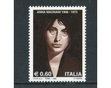 2008 - REPUBBLICA - CENTENARIO DI ANNA MAGNANI - NUOVO - LOTTO/25419