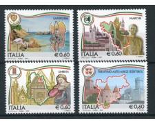 2007 - REPUBBLICA - REGIONI D'ITALIA 4v. - NUOVI - LOTTO/25437