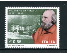 2007 - REPUBBLICA - CENTENARIO DI GIUSEPPE GARIBALDI - NUOVO - LOTTO/25450