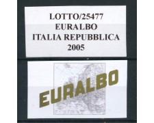 2005 - EURALBO - FOGLI DI AGGIORNAMENTO ITALIA REPUBBLICA - LOTTO/25477