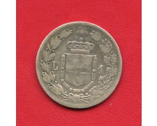 1887 - REGNO D'ITALIA - 1 LIRA  ARGENTO UMBERTO I° - LOTTO/M25581