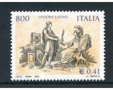 2001 - REPUBBLICA - UNIONE LATINA - NUOVO - LOTTO/25680