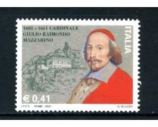 2002 - REPUBBLICA -CARDINALE MAZZARINO - NUOVO - LOTTO/25614