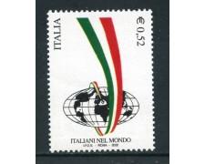 2002 - REPUBBLICA - ITALIANI NEL MONDO - NUOVO - LOTTO/25615