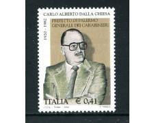 2002 - REPUBBLICA - CARLO ALBERTO DALLA CHIESA - NUOVO - LOTTO/25618