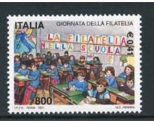 2001 - REPUBBLICA - GIORNATA DELLA FILATELIA - NUOVO - LOTTO/25676
