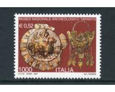 2001 - REPUBBLICA - MUSEO ARCHEOLOGICO DI TARANTO - NUOVO - LOTTO/25679