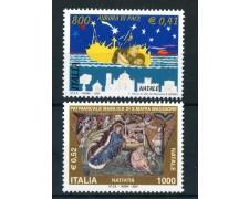 2001 - REPUBBLICA - NATALE 2v. - NUOVI - LOTTO/25684