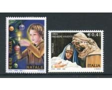 2002 - REPUBBLICA - NATALE 2v. - NUOVI - LOTTO/25685