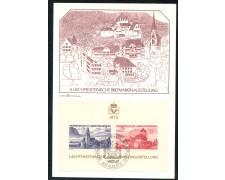 1972 - LIECHTENSTEIN - EXPO FILATELICA LIBA - CARTOLINA MAXIMUM - LOTTO/25781