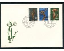 1972 - LIECHTENSTEIN - SCULTURE IN LEGNO - BUSTA FDC - LOTTO/25791