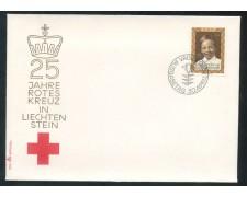 1970 - LIECHTENSTEIN - 25° CROCE ROSSA - BUSTA FDC - LOTTO/25793