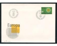 1970 - LIECHTENSTEIN - EUROPA - BUSTA FDC - LOTTO/25794