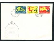 1969 - LIECHTENSTEIN - LEGGENDE - BUSTA FDC - LOTTO/25797