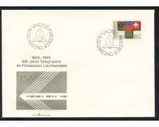 1969 - LIECHTENSTEIN - CENTENARIO TELEGRAFIA - BUSTA FDC - LOTTO/25799