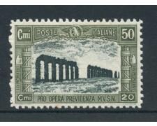 1928 - REGNO - 50+20c. PRO OPERE PREVIDENZA - NUOVO - lotto/25832