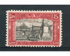 1928 - REGNO - 5+2 Lire PRO OPERE PREVIDENZA - LING.- LOTTO/25834