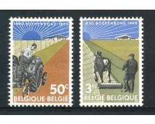 1965 - BELGIO - FEDERAZIONE AGRICOLA 2v. - NUOVI - LOTTO/25928