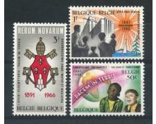 1966 - BELGIO - ENCICLICA RERUM NOVARUM 3v. - NUOVI - LOTTO/25933