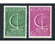 1966 - BELGIO - EUROPA 2v. - NUOVI - LOTTO/25949