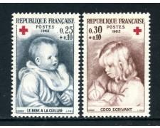 1965 - FRANCIA - CROCE ROSSA 2v. - NUOVI - LOTTO/25956