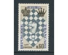 1966 - FRANCIA - FESTIVAL DEGLI SCACCHI - NUOVO - LOTTO/25958
