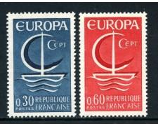 1966 - FRANCIA - EUROPA 2v. - NUOVI - LOTTO/25961