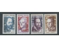 1967 - FRANCIA - UOMINI ILLUSTRI 4v. - NUOVI - LOTTO/25966