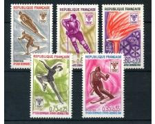 1968 - FRANCIA - OLIMPIADI DI GRENOBLE 5v. - NUOVI - LOTTO/25971
