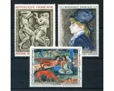 1968 - FRANCIA - OPERE D'ARTE 3v. - NUOVI - LOTTO/25975