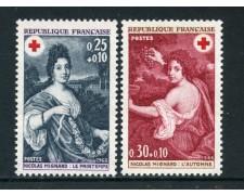 1968 - FRANCIA - CROCE ROSSA 2v. - NUOVI - LOTTO/25977