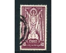 1940 /45 - IRLANDA - 5s.  SAN PATRIZIO - USATO - LOTTO/25985