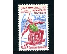 1970 - FRANCIA - GIOCHI MONDIALI PER DISABILI - NUOVO - LOTTO/25997