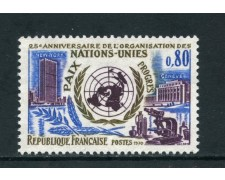 1970 - FRANCIA - ANNIVERSARIO ONU - NUOVO - LOTTO/26003