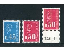 1971 - FRANCIA - MARIANNA DI BEQUET 3v. - NUOVI - LOTTO/26007
