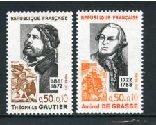 1972 - FRANCIA - PERSONAGGI CELEBRI 2v. - NUOVI - LOTTO/26045