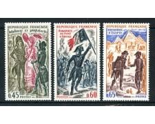 1972 - FRANCIA - STORIA DI FRANCIA 3v. - NUOVI - LOTTO/26046