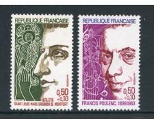1974 - FRANCIA - PERSONAGGI FAMOSI 2v. - NUOVI - LOTTO/26085