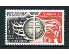 1974 - FRANCIA - 30° ANNIVERSARIO LIBERAZIONE - NUOVO - LOTTO/26104