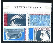 1975 - FRANCIA - ESPOSIZ. ARPHIL 4v. DA FOGLIETTO - NUOVI - LOTTO/26106