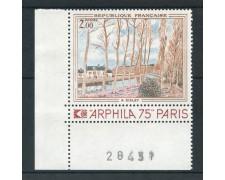 1974 - FRANCIA - OPERE D'ARTE  SISLEY - NUOVO - LOTTO/26108