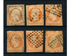 1853 - FRANCIA - 40 cent. NAPOLEONE - 6 ESEMPLARI USATI - LOTTO/26116