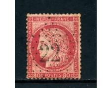 1872 - FRANCIA - 80c. ROSA CARMINIO CERERE - USATO - LOTTO/26118